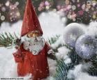 Papai Noel com uma estrela na mão para o Natal