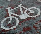 Bicicleta pintada, sinal