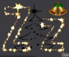 A letra Z maiusculo e minúsculo feito com estrelas de Natal
