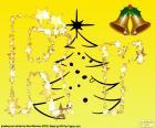 Letra R com fundo de Natal