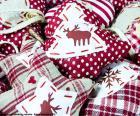 Enfeites de Natal, tecido