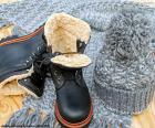Botas de inverno preto