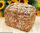 Pão de sementes de girassol