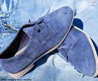Sapatos dos homens azuis