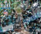 Philadelphia Eagles, campeões do Super Bowl 2018 batendo o New England Patriots 41-33. Este é seu primeiro Super Bowl