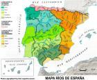 Mapa dos rios da Espanha