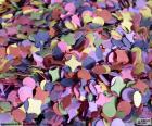 Confetes de cores