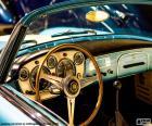 Painel de bordo de um carro clássico