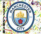 Manchester City FC campeão da Premier League 2017-2018, a primeira divisão do futebol profissional na Inglaterra