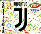 A Juventus de Turim campeão da Serie A 2017-2018, seu sétimo scudetto consecutivo