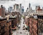Vista de rua em Manhattan