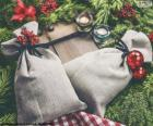 Sacos de presente de Natal