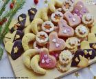 Variedade de biscoitos de Natal