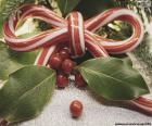 Puzle Laço a bastão-de-Natal