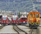 Trens na estação