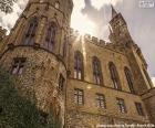 Detalhe de o Castelo de Hohenzollern-Sigmaringen, AlemanhaDetalhe