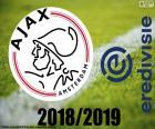 Ajax de Amesterdão é o novo campeão da Eredivisie em 2018-2019, o Campeonato da liga principal de futebol profissional nos Países Baixos