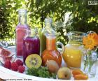 Sucos de frutas naturais
