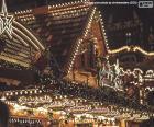 Luzes do mercado de Natal