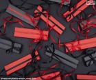 Presentes vermelhos e pretos