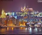 Praga à noite, República Tcheca