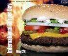 Dia Internacional do Hambúrguer, 28 de maio. Um dos alimentos mais populares e consumidos do mundo