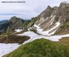 Paisagem alta da montanha