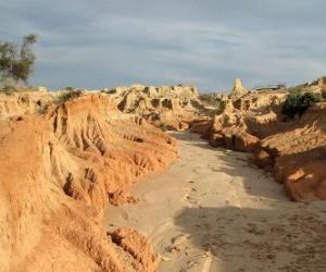 Puzle Região dos Lagos Willandra, Austrália