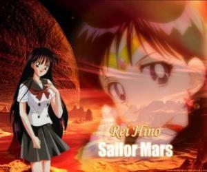 Puzle Rei Hino, Ray Hino ou Rita Hino se transforma em Sailor Marte