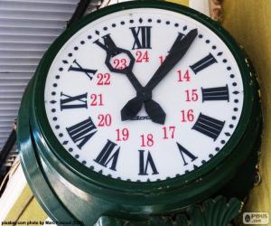 Puzle Relógio da estação