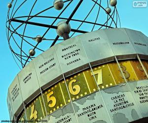 Puzle Relógio mundial, Berlim, Alemanha