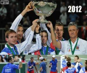 Puzle República Checa, campeão da Copa Davis 2012