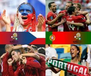 Puzle República Checa - Portugal, quartas, Euro 2012