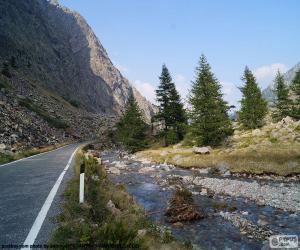 Puzle Rio, estrada de montanha