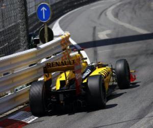 Puzle Robert Kubica - Renault - Monte Carlo de 2010