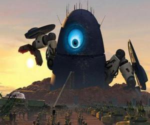 Puzle Robot Probe, o robô alienígena