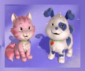Puzle Rocambole é o filhote de cachorro da Moranguinho com Creme é o gatinho da Moranguinho