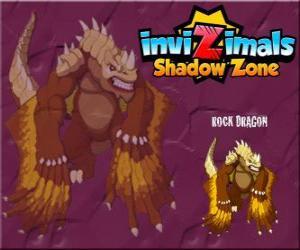 Puzle Rock Dragon. Invizimals A nova dimensão. Os dragões de rocha vivem em crateras de vulcões