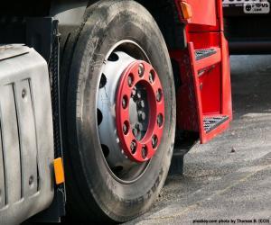 Puzle Roda de caminhão