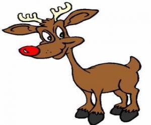 Puzle Rodolfo, a rena do nariz vermelho