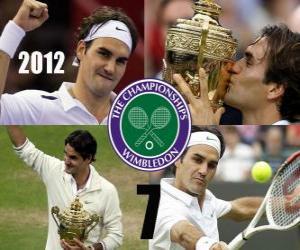 Puzle Roger Federer campeão de Wimbledon 2012
