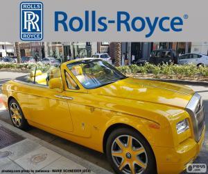 Puzle Rolls-Royce de cor amarela