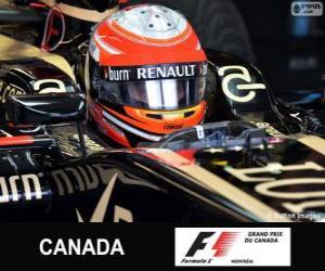 Puzle Romain Grosjean - Lotus - Circuito Gilles Villeneuve, Montreal, 2013