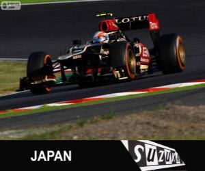 Puzle Romain Grosjean - Lotus - GP do Japão de 2013, 3º classificado
