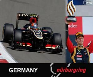 Puzle Romain Grosjean - Lotus - Grande Prêmio Alemanha 2013, 3º classificado