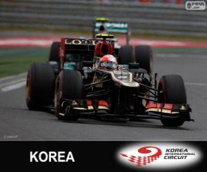 Puzle Romain Grosjean - Lotus - Grande Prémio da Coreia 2013, 3º classificado