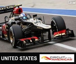 Puzle Romain Grosjean - Lotus - Grande Prêmio dos Estados Unidos 2013, 2º classificado