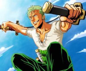 Puzle Roronoa Zoro é um espadachim especialista em combate com três espadas