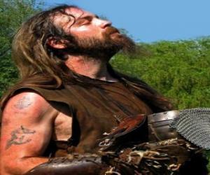 Puzle Rosto de viking ou viquingue com bigode e barba