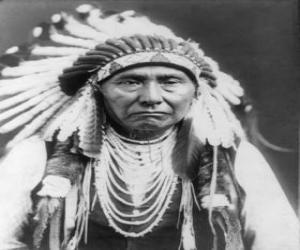 Puzle Rosto do chefe índio
